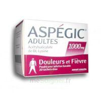 ASPEGIC ADULTES 1000 mg, poudre pour solution buvable en sachet-dose 20 à Mantes-La-Jolie