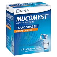 MUCOMYST 200 mg Poudre pour solution buvable en sachet B/18 à Mantes-La-Jolie