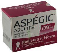 ASPEGIC ADULTES 1000 mg, poudre pour solution buvable en sachet-dose 15 à Mantes-La-Jolie