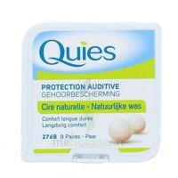 QUIES PROTECTION AUDITIVE CIRE NATURELLE 8 PAIRES à Mantes-La-Jolie