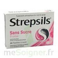STREPSILS FRAISE SANS SUCRE, pastille édulcorée à l'isomalt, au maltitol et à la saccharine sodique à Mantes-La-Jolie