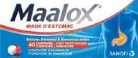 MAALOX MAUX D'ESTOMAC HYDROXYDE D'ALUMINIUM/HYDROXYDE DE MAGNESIUM 400 mg/400 mg SANS SUCRE FRUITS ROUGES, comprimé à croquer édulcoré à la saccharine sodique, au sorbitol et au maltitol à Mantes-La-Jolie
