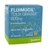 FLUIMUCIL EXPECTORANT ACETYLCYSTEINE 200 mg SANS SUCRE, granulés pour solution buvable en sachet édulcorés à l'aspartam et au sorbitol à Mantes-La-Jolie