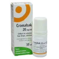 CROMABAK 20 mg/ml, collyre en solution à Mantes-La-Jolie