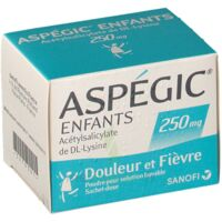 ASPEGIC ENFANTS 250, poudre pour solution buvable en sachet-dose à Mantes-La-Jolie