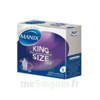 Manix King Size Préservatif avec réservoir lubrifié confort B/3 à Mantes-La-Jolie