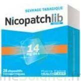 NICOPATCHLIB 14 mg/24 h Dispositifs transdermiques B/28 à Mantes-La-Jolie